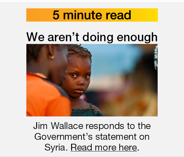 Jim Wallce: We aren't doing enough on Syria