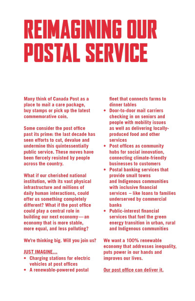 Canada's post office could get a revolutionary green make