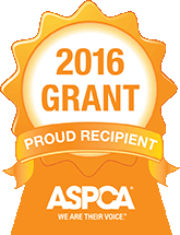 Proud Recipient of the 2016 ASPCA Grant