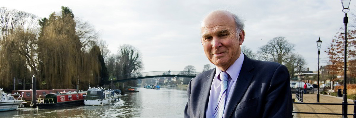 Vince Cable in Twickenham