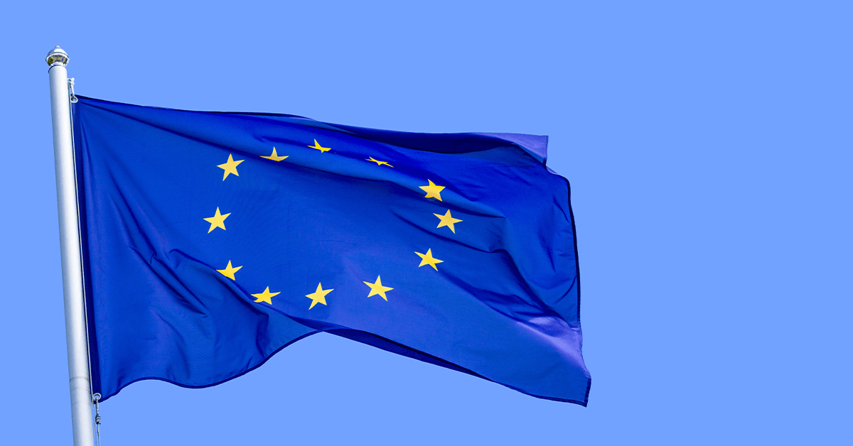 The flag of the European Union | Links to: EU Citizens