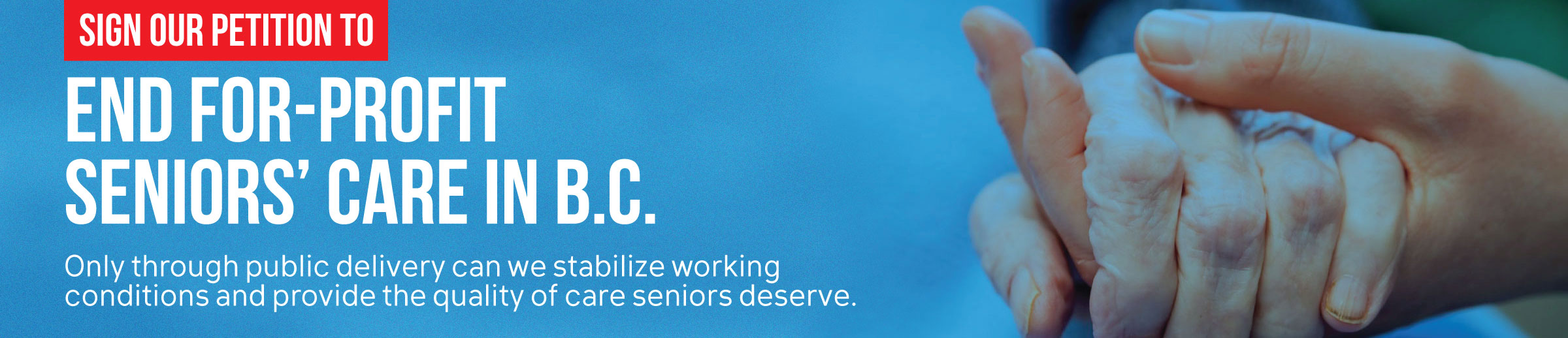 End for-profit seniors' care in B.C.