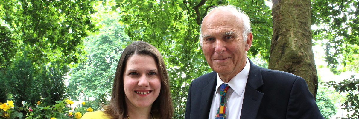 Deputy Lib Dem Leader Jo Swinson MP and Lib Dem Leader Rt Hon Sir Vince Cable MP