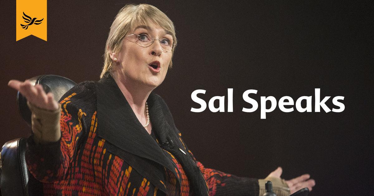 Sal Brinton speaking at Lib Dem conference. Links to: Sal Speaks September 17