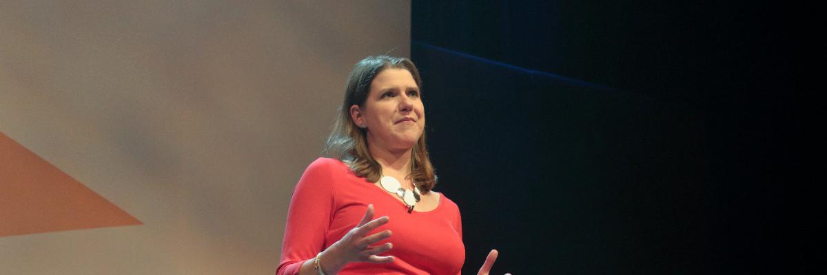 Jo Swinson speaks at Lib Dem conference.