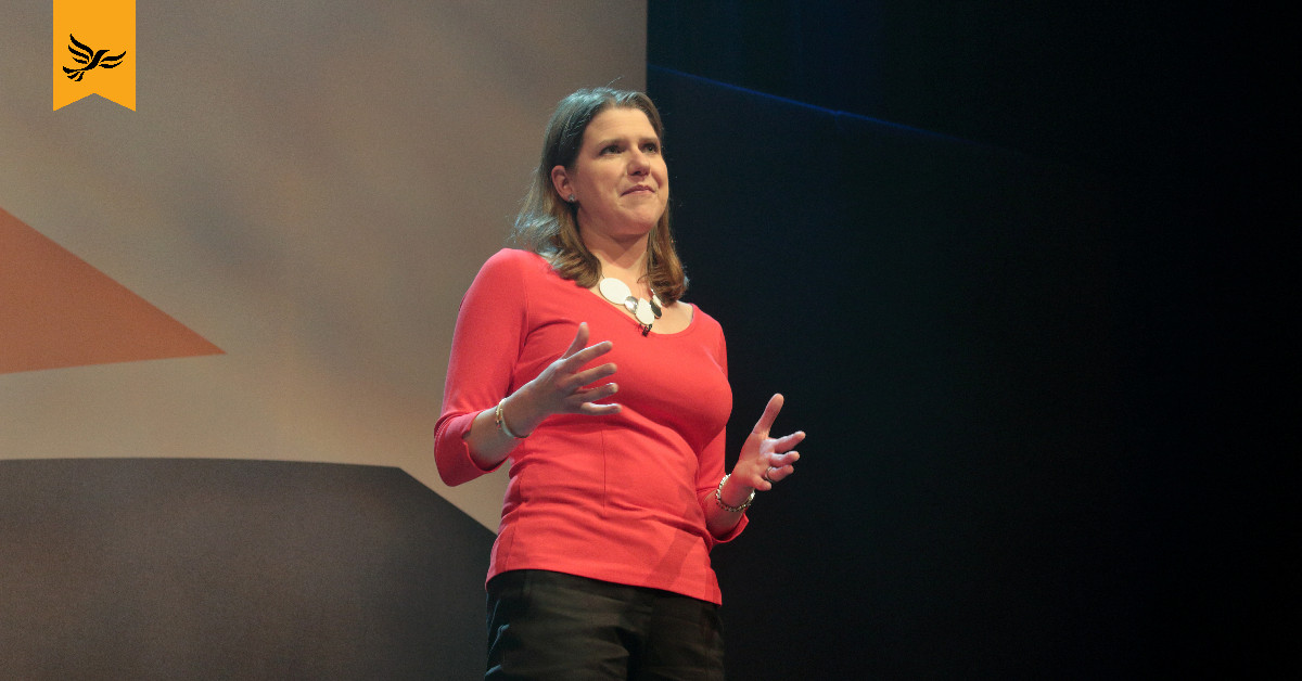 Jo Swinson speaks at Lib Dem conference. Links to: Jo Swinson: We must end period poverty