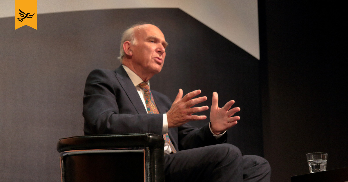 Vince Cable speaks at Lib Dem conference. Links to: Labour should be ashamed