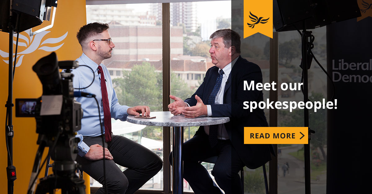 Liberal Democrat Spokespeople Links to: New Liberal Democrat spokespeople