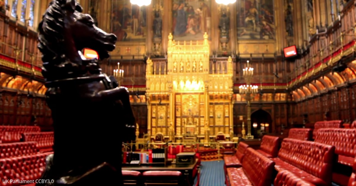 House of Lords. Image: UK Parliament
