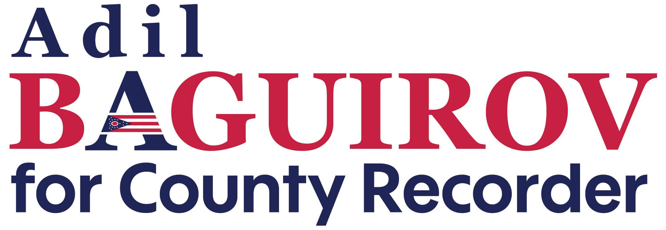 Adil Baguirov for County logo