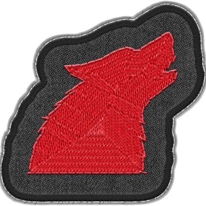 Active Wolf Badge Art