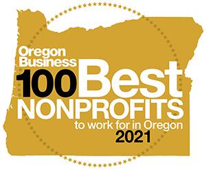 Oregon Business 100 Best Nonprofits 2021 Badge