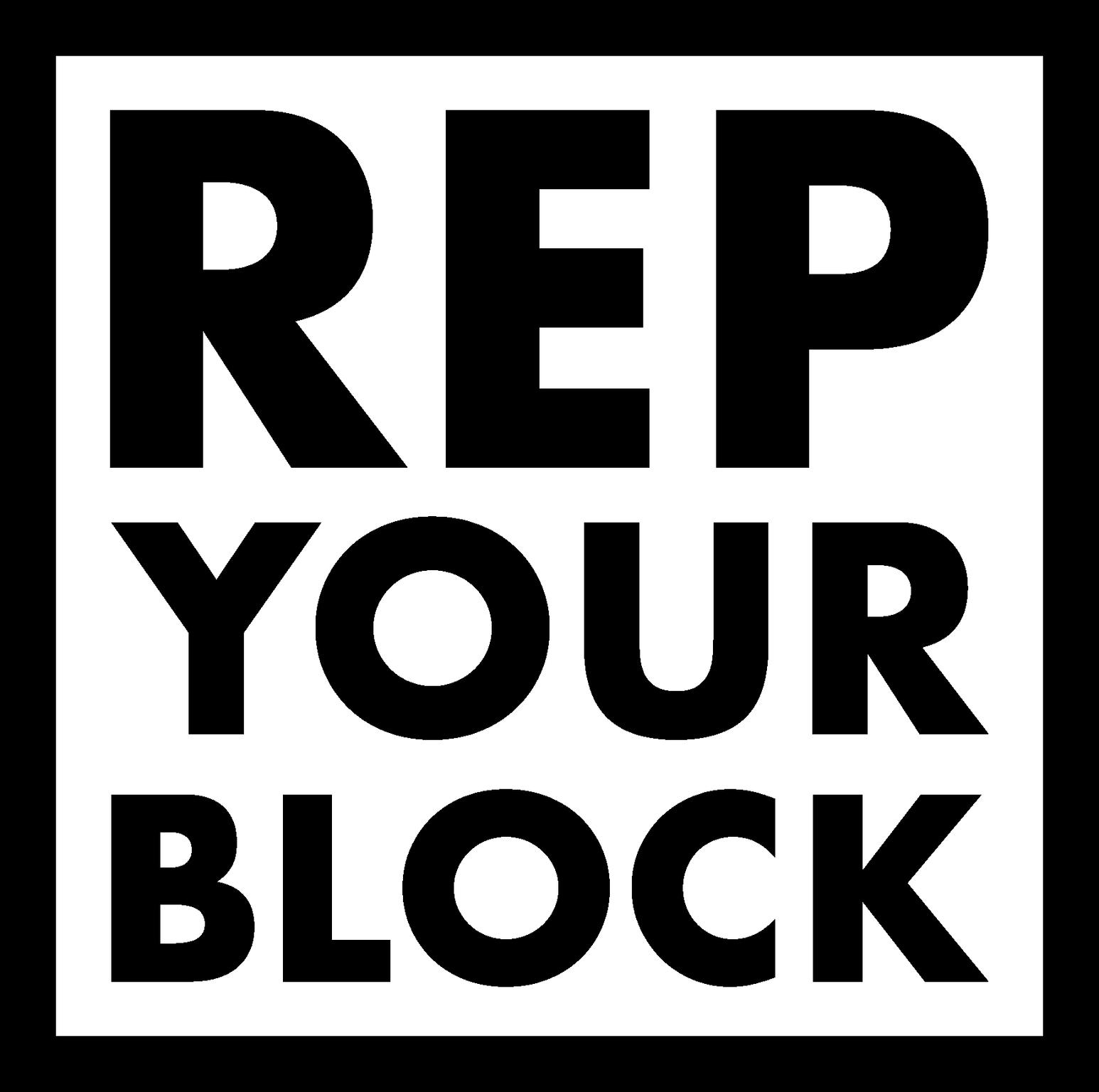 #RepYourBlock logo