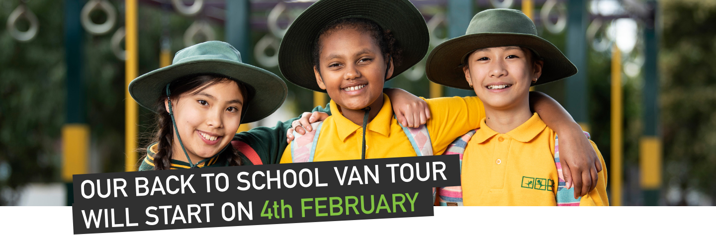 Our Back to School Van Tour will start on the 4th of February