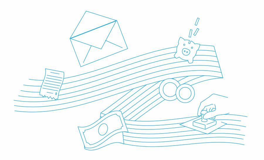 Postal banking illustration