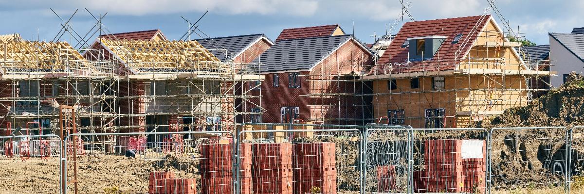 A housing estate under construction.