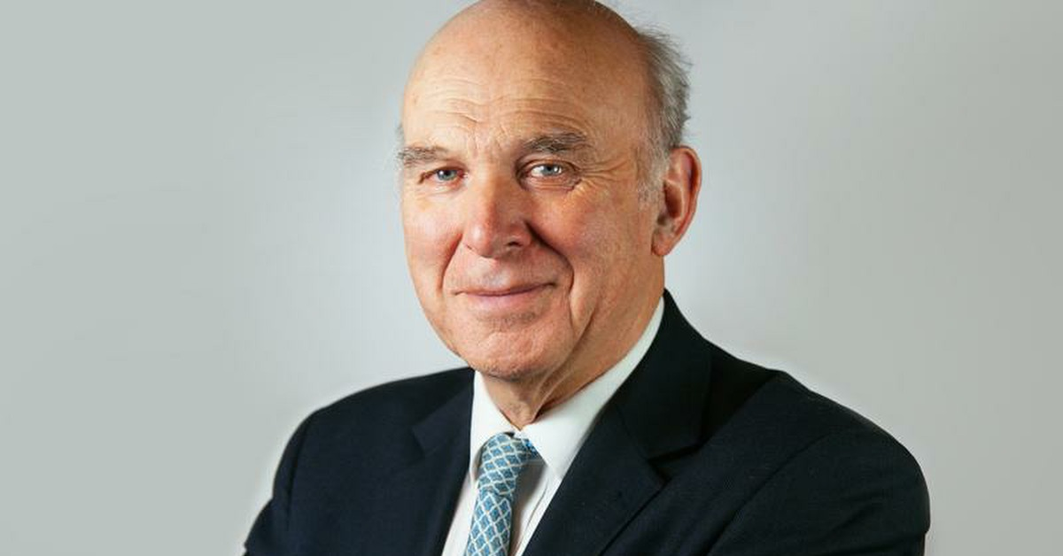 Vince Cable. Links to: A message from Vince