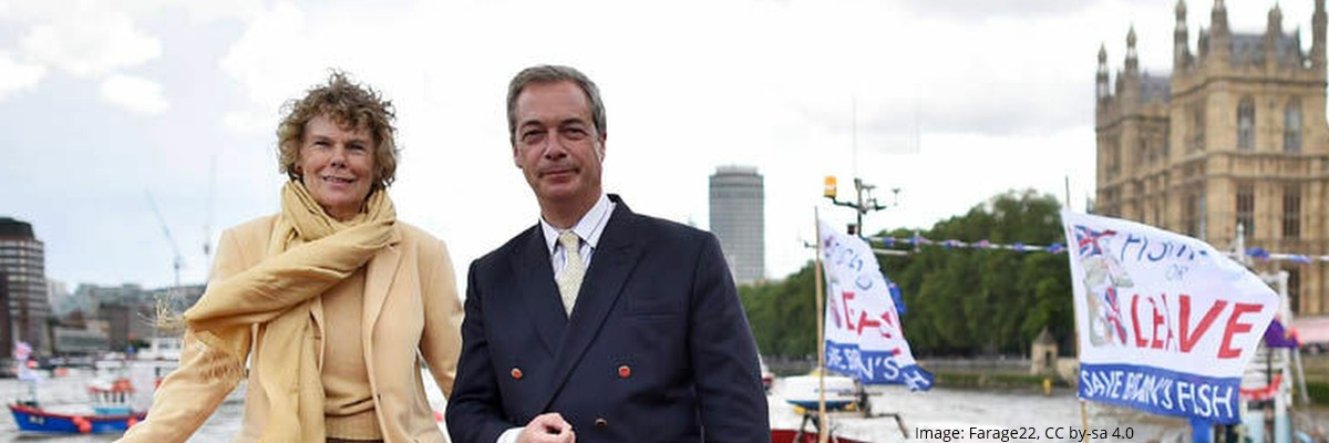 Nigel Farage MEP and Kate Hoey MP, UKIP and Labour, best of friends | Image: Farage22