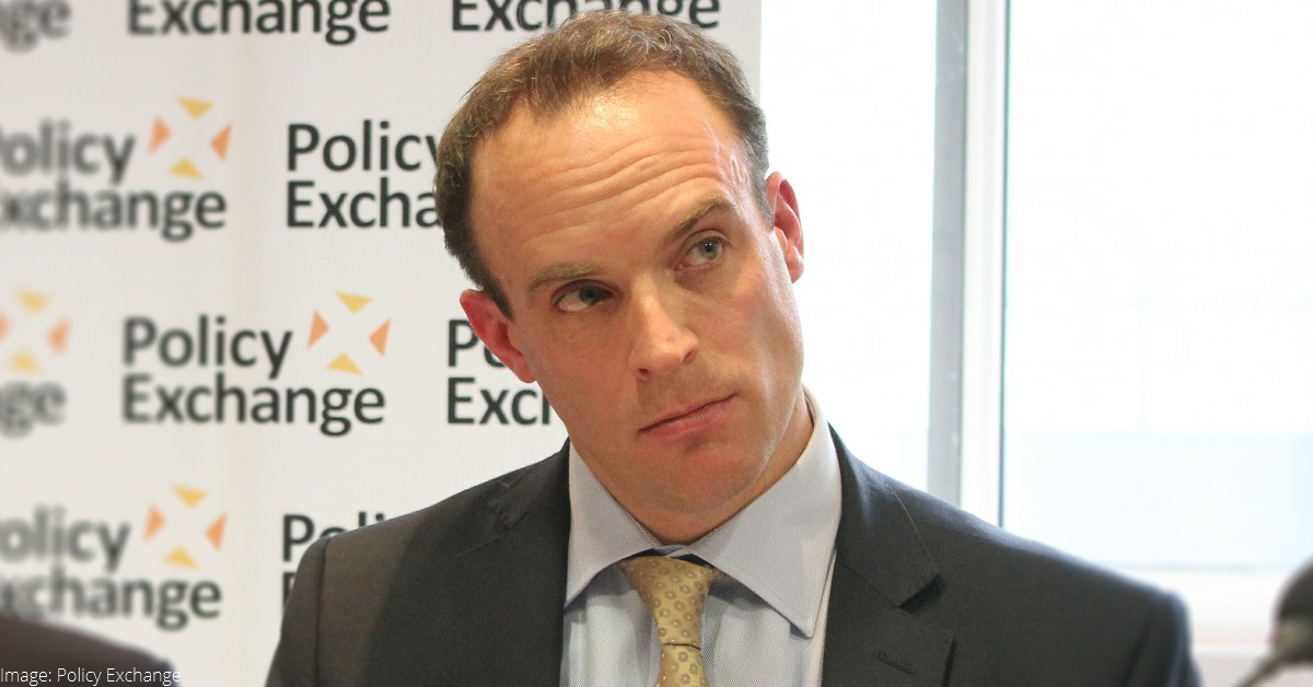 Dominc Raab, MRA and Brexit Secretary. Image: Policy Exchange