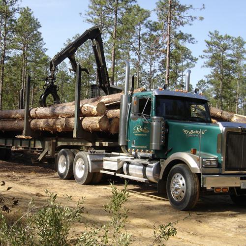 Logging truck photo