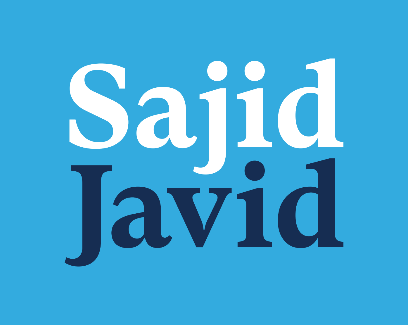 Sajid Javid for Leader of the Conservative & Unionist Party