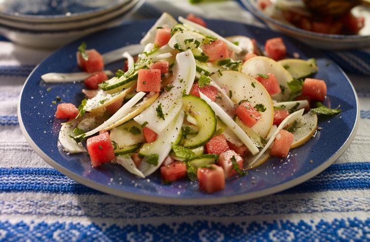 Salade de chou au fenouil et au melon