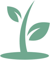 Icon of a plant growing from a patch of soil