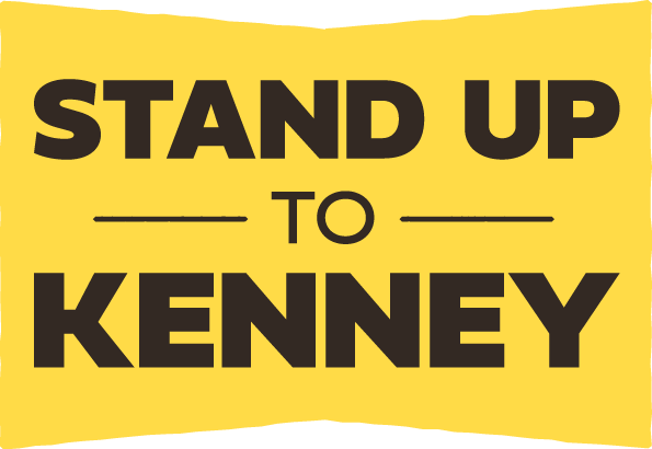 Stand up to Kenney Logo