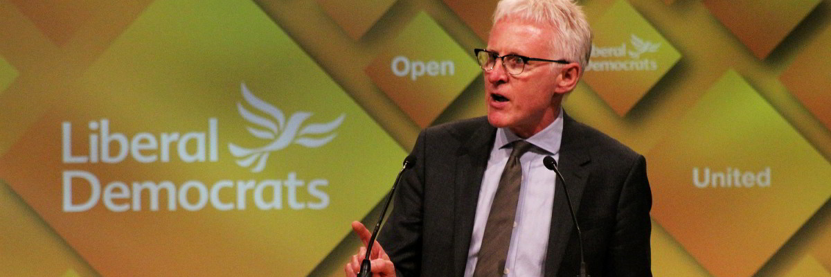 Norman Lamb speaking at Lib Dem conference