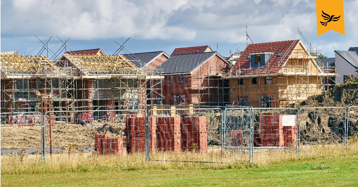 A housing estate under construction. | Links to: Getting our new party team in place