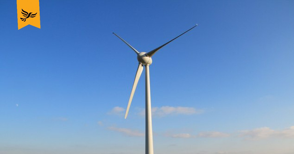 A wind turbine. | Links to: A green recovery with a Sovereign Green Wealth Fund