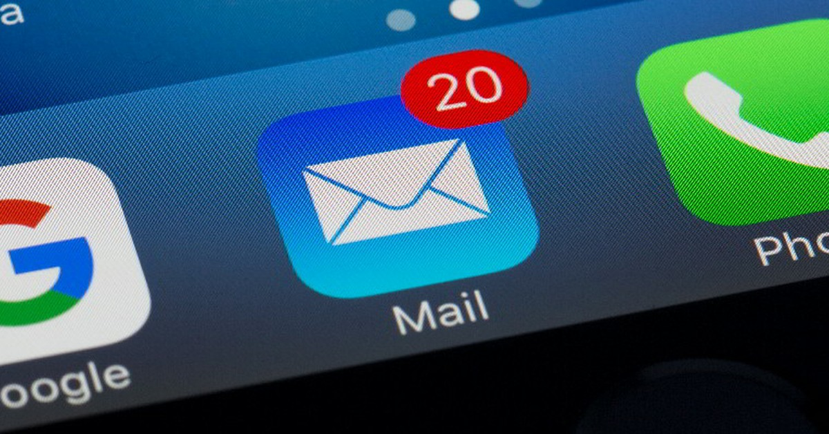 Screen of an iPhone showing Google, Mail and Phone apps. | Links to: Privacy Changes to Email in IOS 15