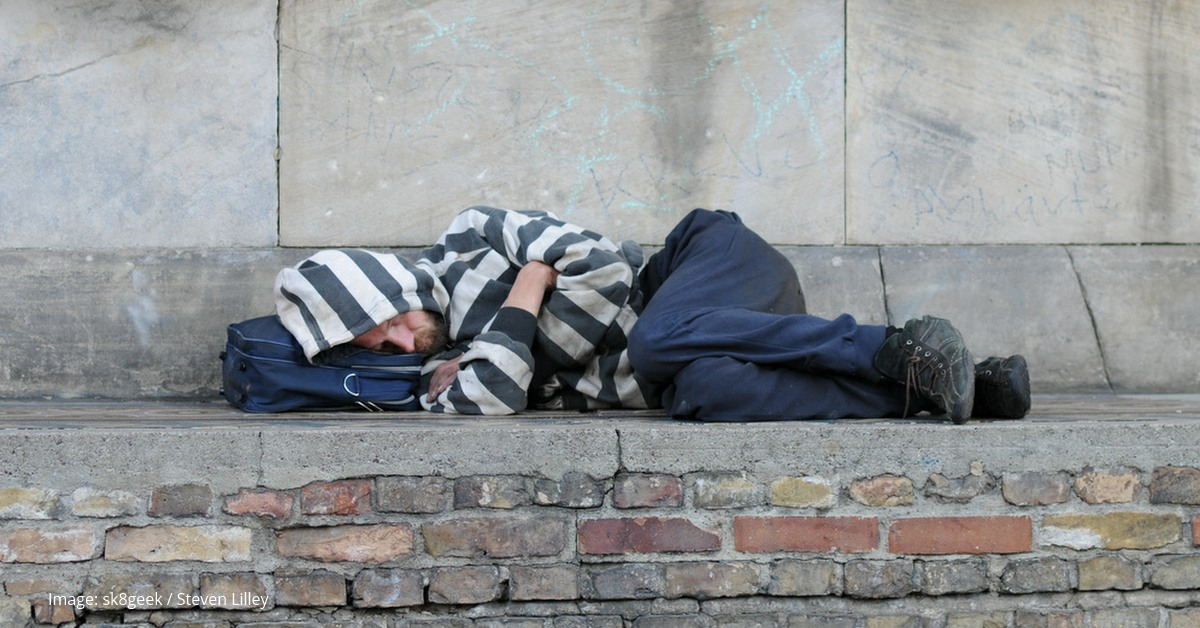 A man sleeping rough. Image: Steven Lilley. Links to: Let's make 2020 the year we scrap the Vagrancy Act.