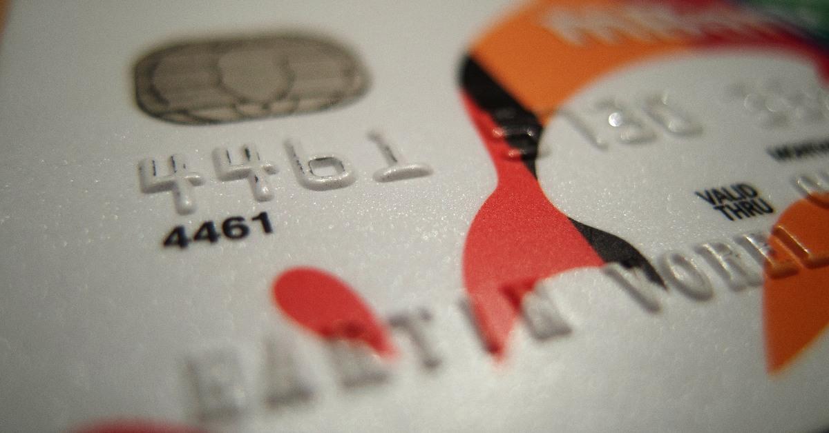 Close up of a credit card.