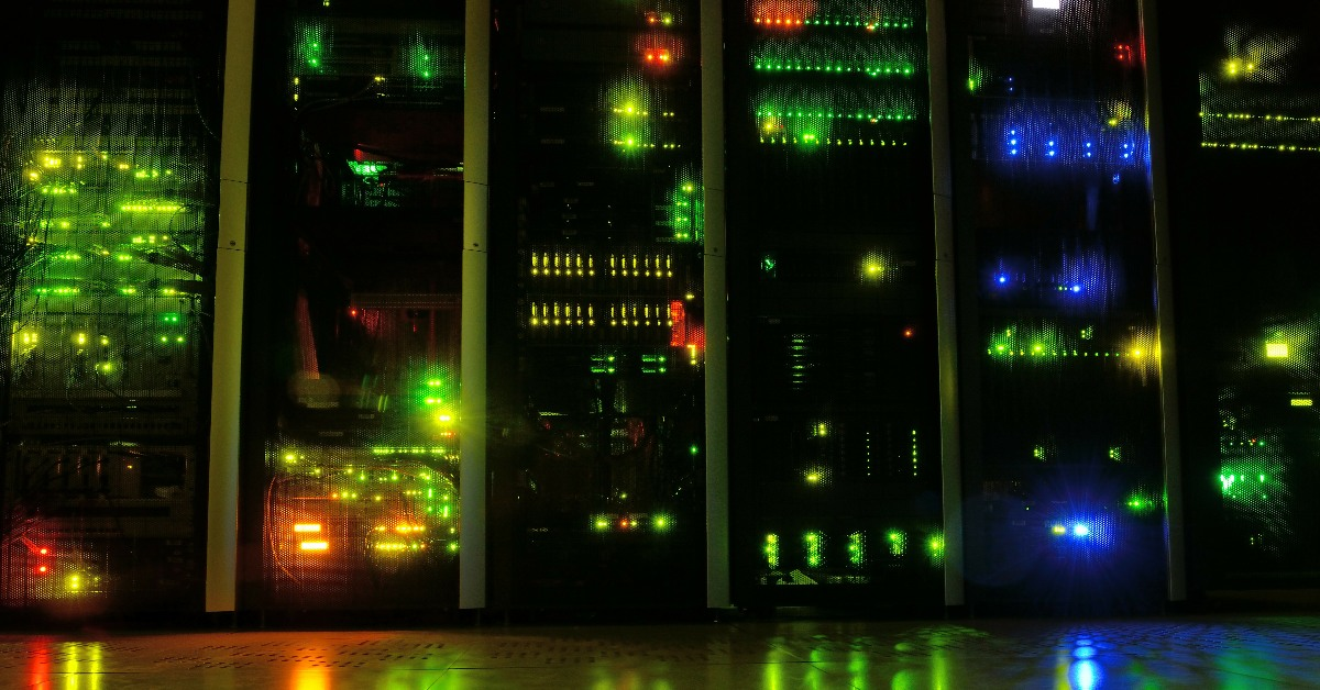 Servers in a data centre.