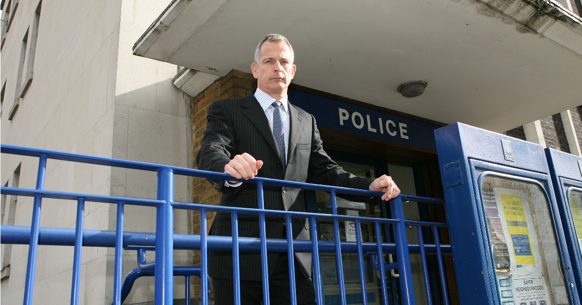 Lord Brian Paddick outside a police station