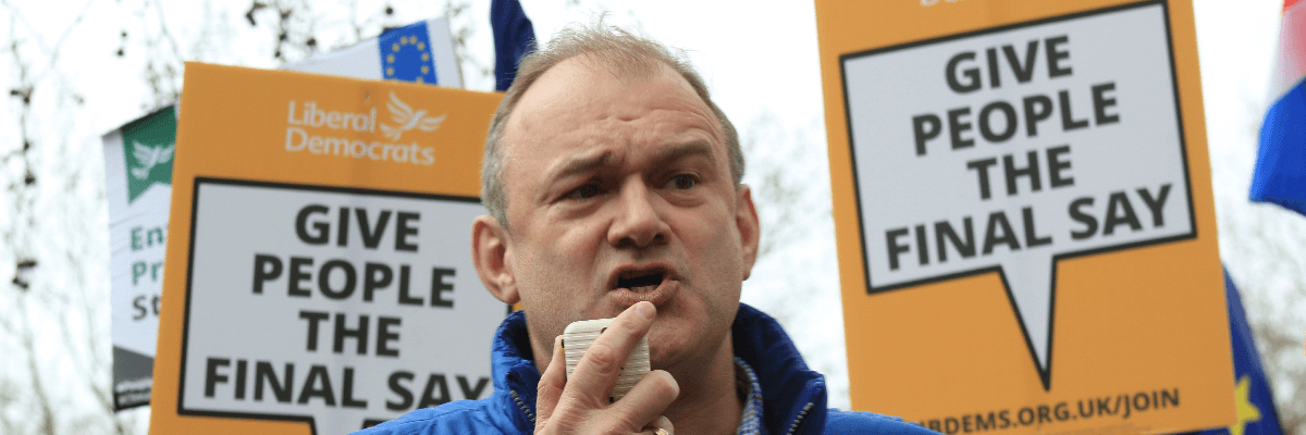 Ed Davey at a People's Vote March