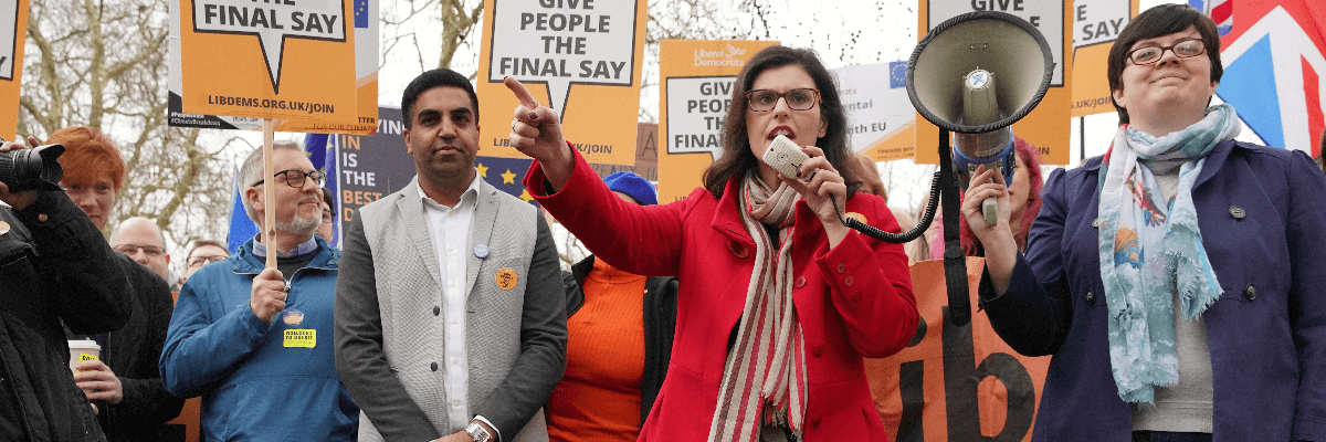 Layla Moran at march against Brexit