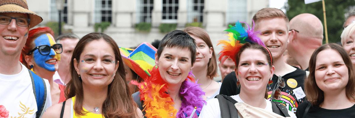 Liberal Democrats at a pride march