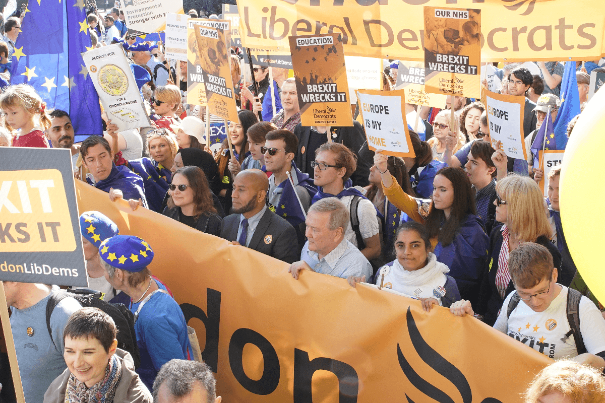 Liberal Democrats at Anti-Brexit March | Links to: Learning from 2019 and packing a punch in target seats
