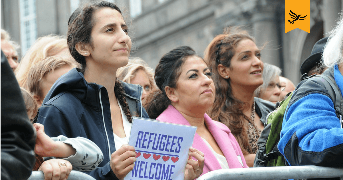 Refugees Welcome protest