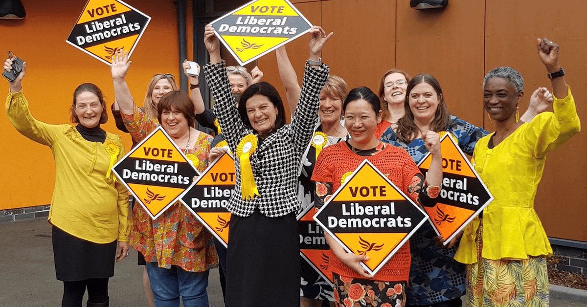 Liberal Democrats celebrating victory in South Cambridgeshire Links to: Liberal Democrats are the winners from 2020's council by-elections