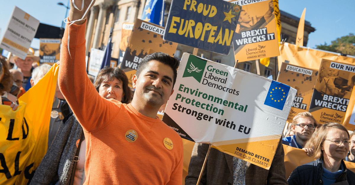 Liberal Democrats at Anti-Brexit March
