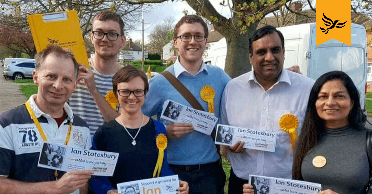 A group of Liberal Democrat Campaigners | Links to: Deliver more leaflets