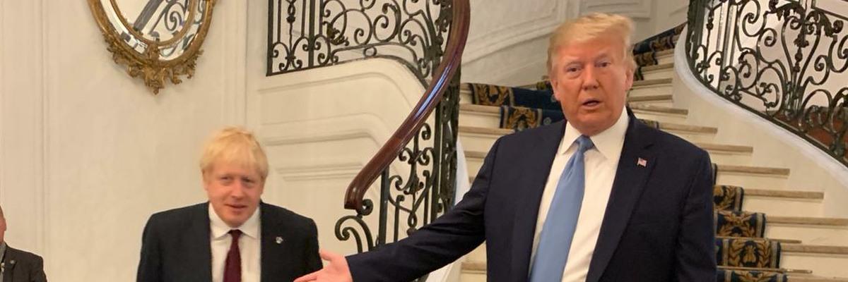 US President Donald Trump with Boris Johnson, the UK Prime Minister