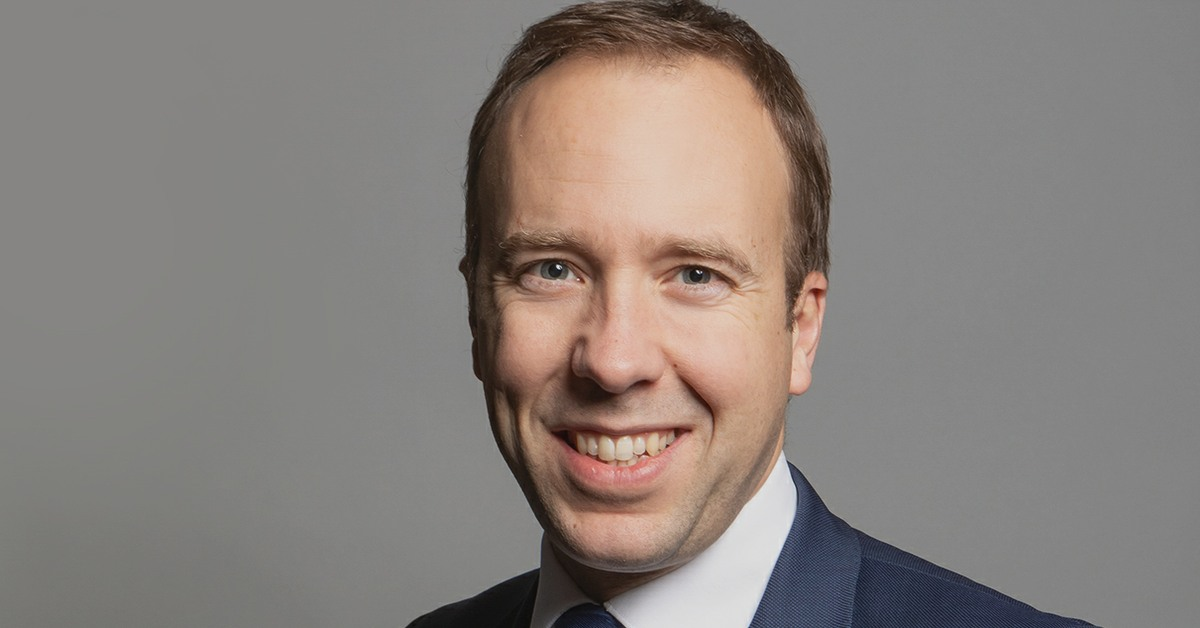 Matt Hancock, Secretary of State for Health and Social Care in England