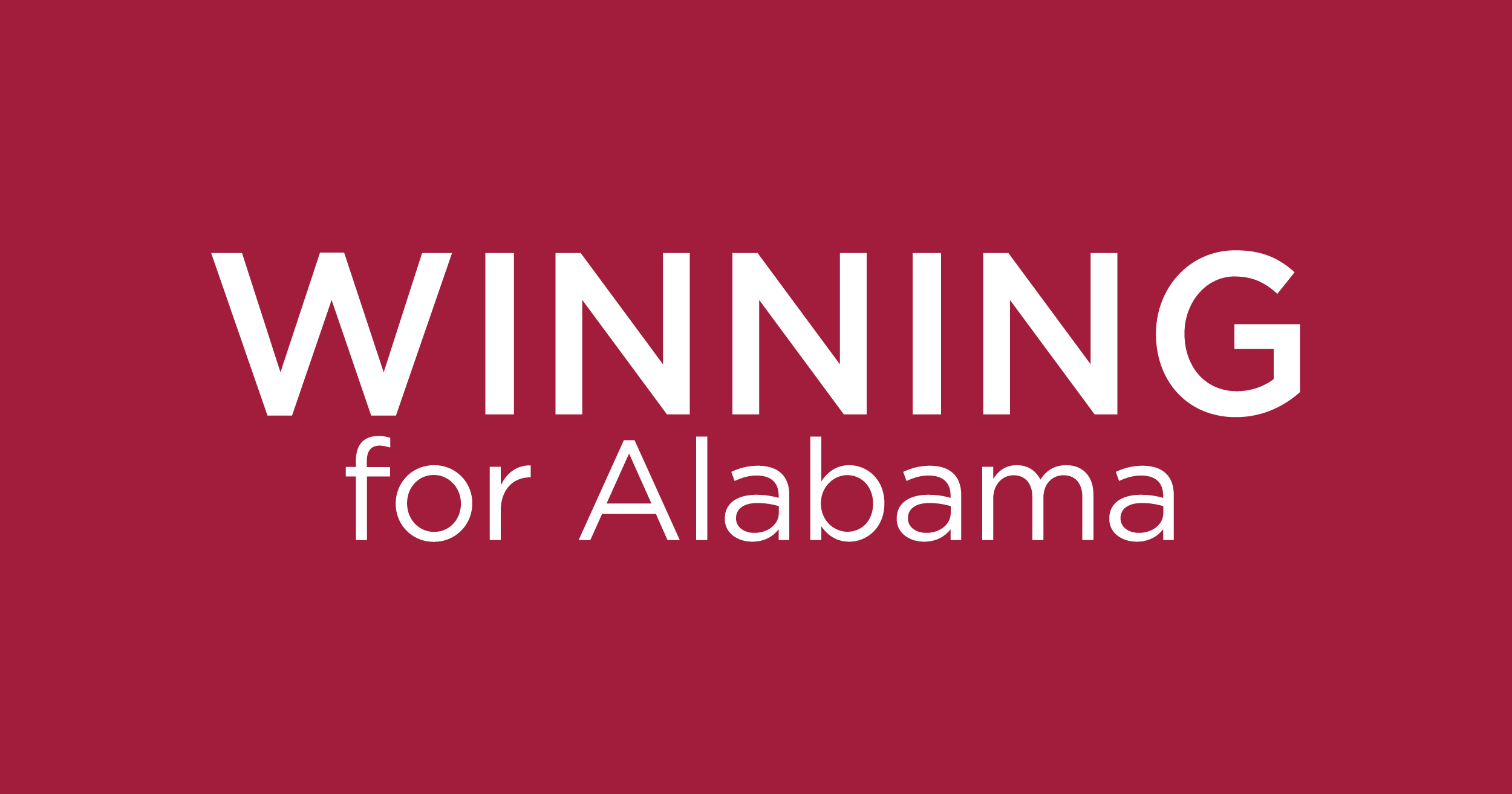 Winning for Alabama