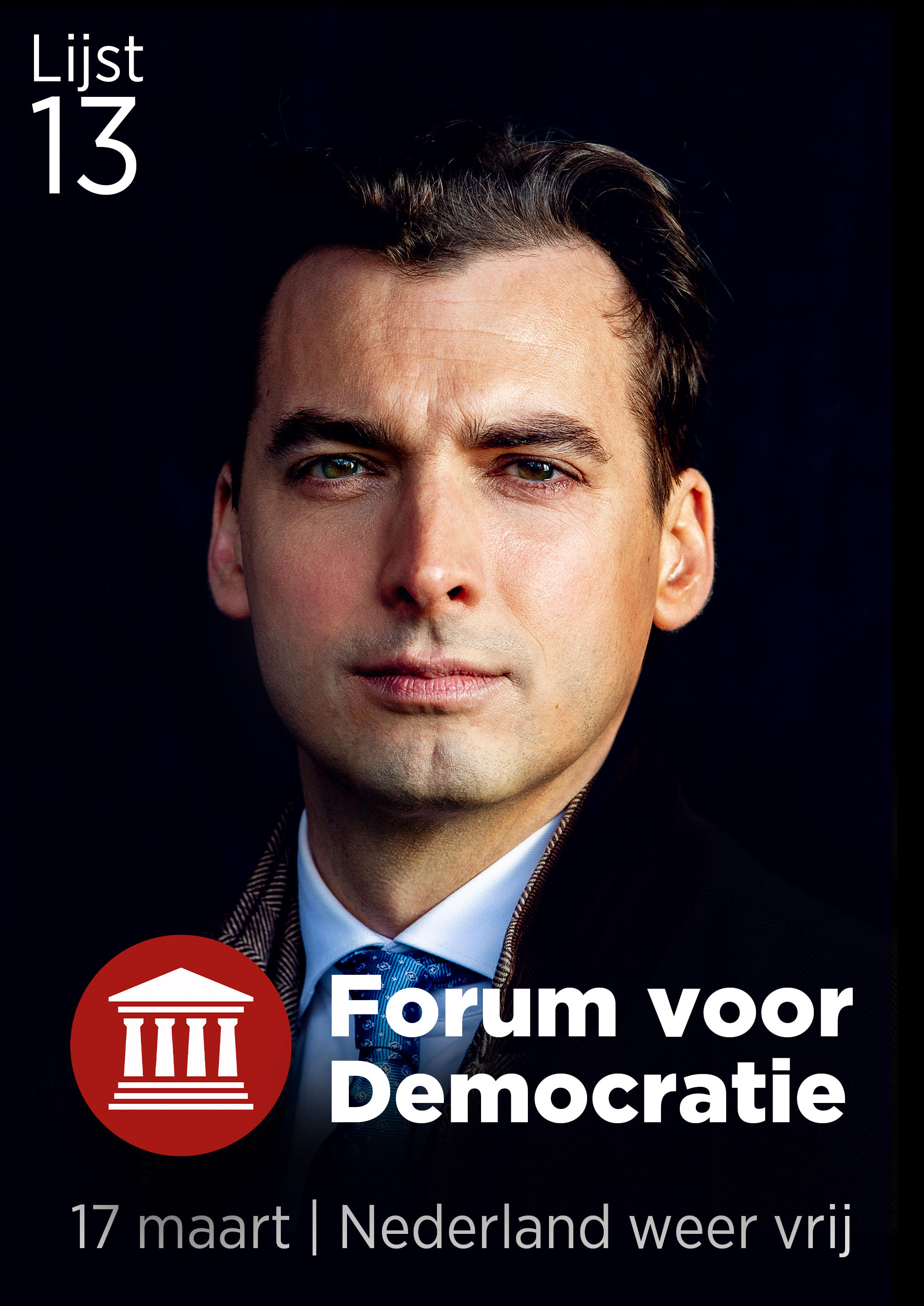 Poster stem Thierry Lijst 13