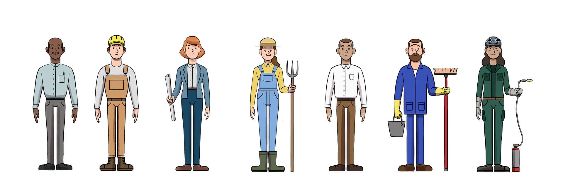 Profils de métiers illustrés