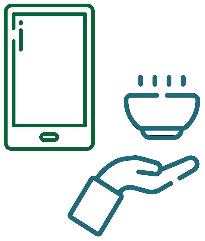 phone drive hot food